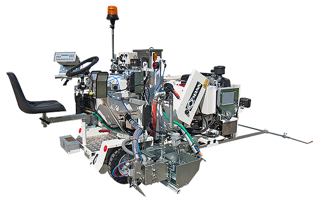 Hofmann H10-2 open screed box system for 2-component cold plastics